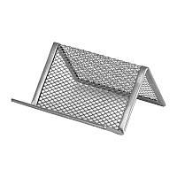 "Подставка для визиток ""Axent"" металл серебро (95*80*60) 2114-03-А"