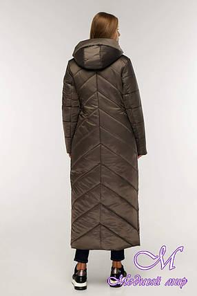 Жіночий зимовий пуховик довгий (р. 44-58) арт. 1133 Тон 25, фото 2