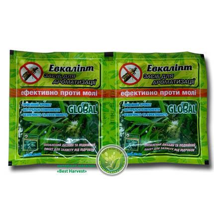 Таблетки от моли «Глобал» аромат эвкалипта (10 шт), оригинал, фото 2