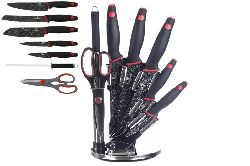 Набор ножей Berlinger Haus Black Stone Touch Line из 8 предметов BH-2119