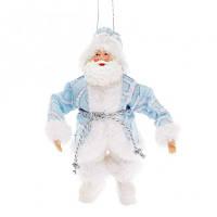 Новогодняя подвеска Санта 17.5 см. голубой Новогодний декор