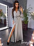Женское элегантное платье в пол на запах расцветках), фото 3