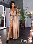 Женское элегантное платье в пол на запах расцветках), фото 10