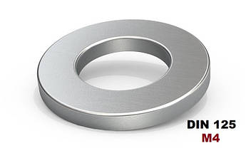 М4 Шайба плоская Оцинкованная (DIN 125)