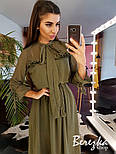 Женское платье в горошек с рюшами (в расцветках), фото 7