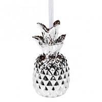 Подвеска новогодняя Ананас серебряный  Новогодний декор