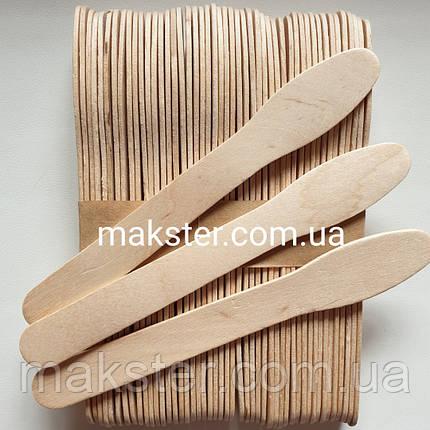 Шпатели деревянные  в форме ложки (50 шт), фото 2