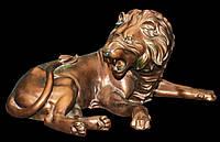 """Бронзовая статуя """"Лев"""" (h40x90cm)"""