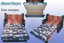 Диван розкладний Березня 110см (Вензель коричневий). Дитячий диван з нішею для білизни, фото 2