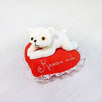 Мягкая игрушка Медвежонок Кроха на сердце Кохаю тебе 22см (544-1), фото 1