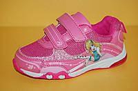 Детские кроссовки повседневные Том.М 6079b для девочек рожев. сітка