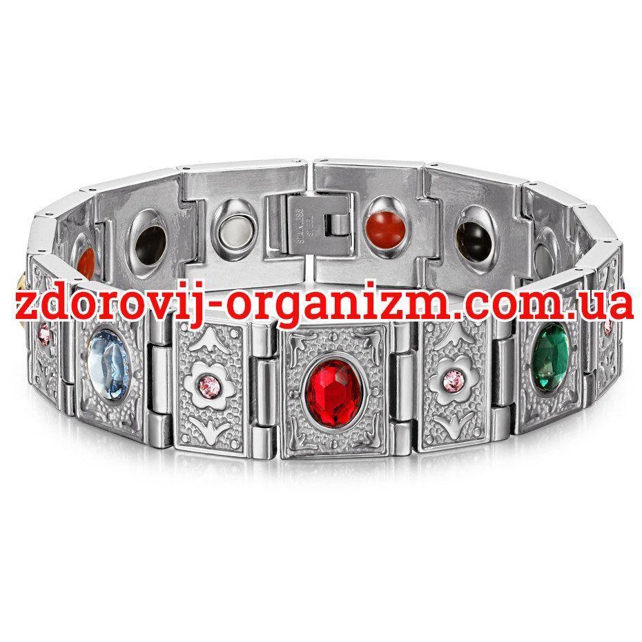 Магнитный браслет Вековой Восток Сильвер 4в1
