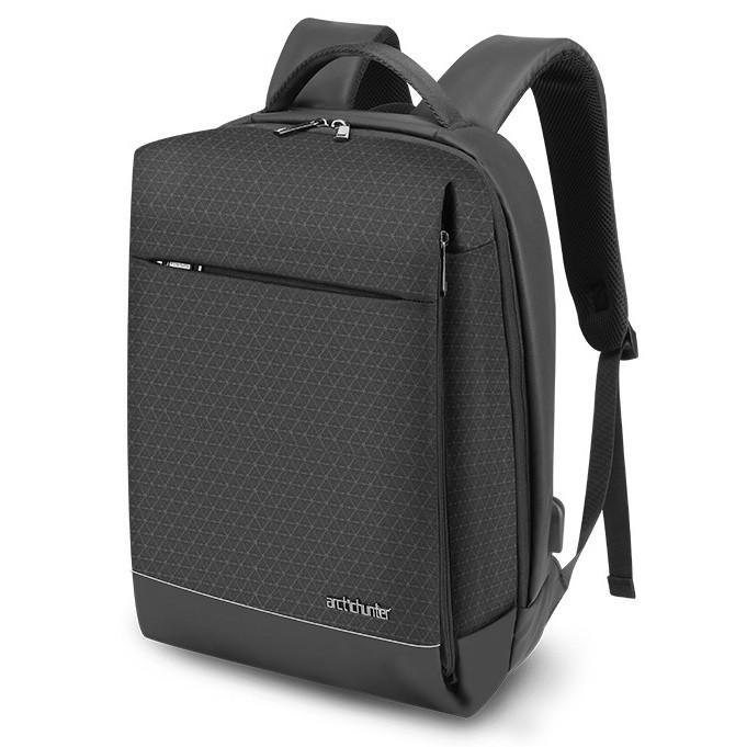 Городской рюкзак Arctic Hunter B00348 с USB портом, RFID защитой и жестким каркасом, 22л