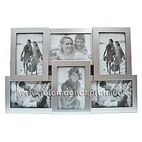 Коллаж для фото (рамки для фотографий на стену) металл.3/10х15,3/15х10см.