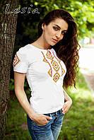 Жіноча вишиванка Геометрія оранж, фото 1
