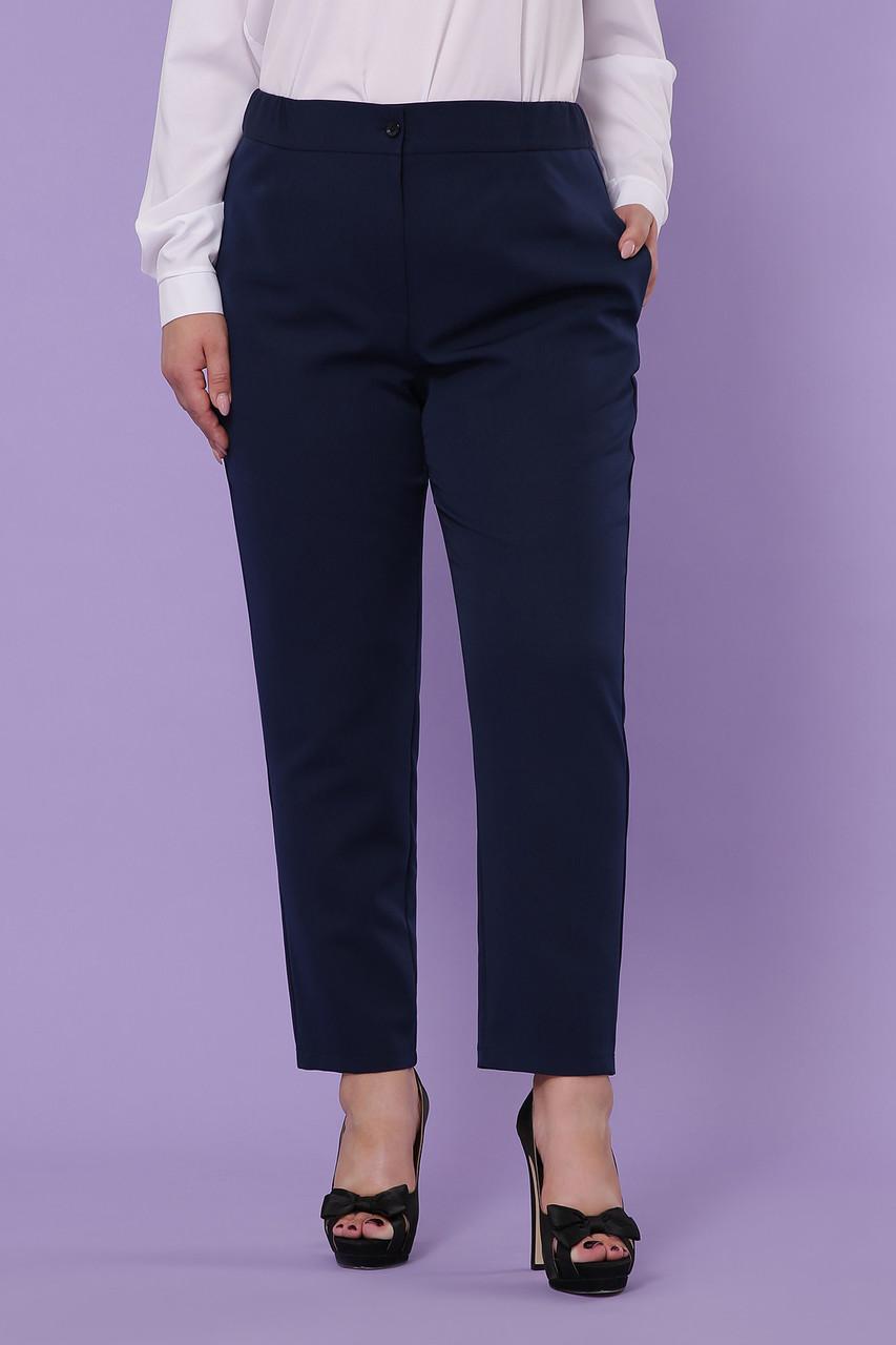 Женские темно-синие брюки большие размеры