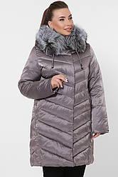 Женская зимняя куртка с мехом на капюшоне большие размеры