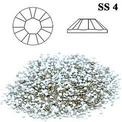 Камни Стразы для Ногтей Diamond Crystal SS 4 Прозрачные Кристалльные Упаковка 1440 шт.