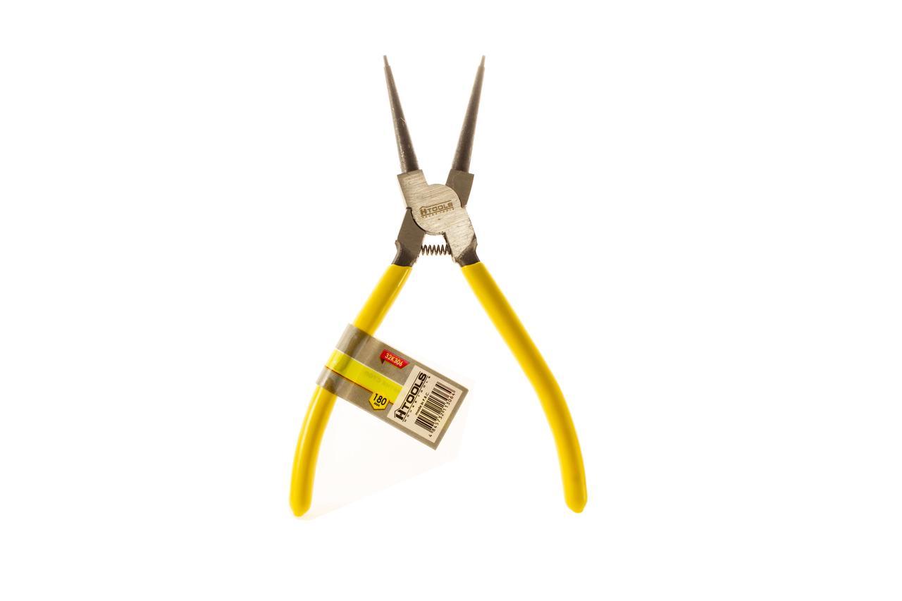 Щипці для зняття стопорних кілець прямі на стиск 180мм HTools, 32K306