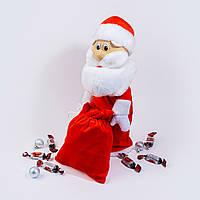 Чехол под шампанское Zolushka Дед Мороз 40см красный (4541), фото 1