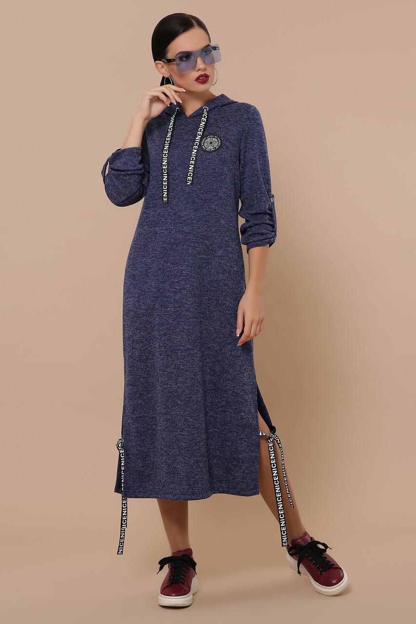 Женское платье синие Далия д/р