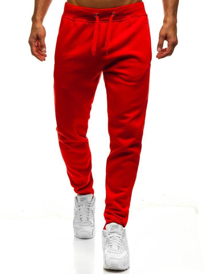 Мужские спортивные штаны. Спортивные штаны красного цвета.