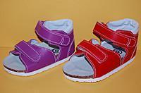 Детские Босоножки Ортекс T-62 для девочек фіолет ортопед.