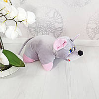 Мягкая игрушка Подушка трансформер мышка 37см (247), фото 1