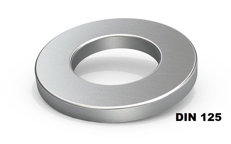 DIN 125 Шайба плоска Оцинкована (Розміри в ОПИСІ)