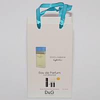 Light Blue Dolce and Gabbana мини парфюмерия в подарочной упаковке3х15ml DIZ