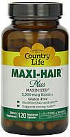 Витамины для волос, кожи и ногтей Maxi-Hair ® Plus 120 капсул, пластиковая банка.