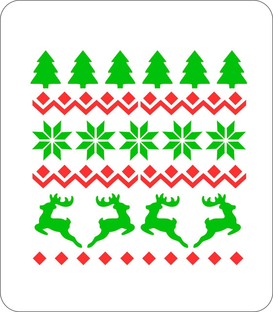 Набор трафаретов для пряников Новый год №10