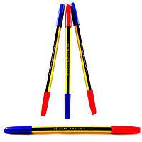 Ручка шариковая двусторонняя (синий/красный)