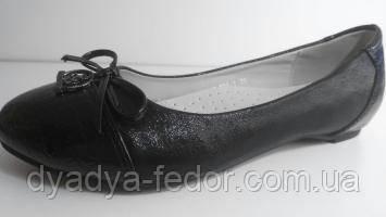 Детские Туфли Китай 008-1 для девочек чорн.