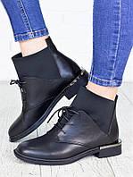 Ботинки женские кожаные черного цвета - стильная качественная женская обувь