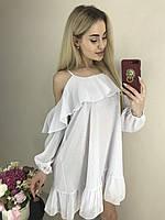 Легкое воздушное платье мини из шифона ft-443 разные цвета