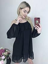 Легкое воздушное платье мини из шифона /разные цвета, 42-46, ft-443/, фото 3