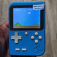 Портативная игровая ретро приставка 400 игр dendy денди SEGA 8bit Game Box синяя