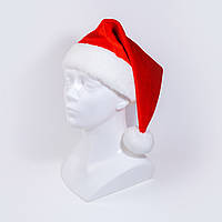 Маскарадная шапочка новогодняя красная (228-1)