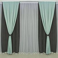Готовые дорогие  плотные 4 полотна шторы в спальню,залу  микровельвет(цвета в ассортименте)