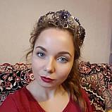 Purple Rose - Висока діадема з фіолетовим камінням в стилі Роксолани, фото 6
