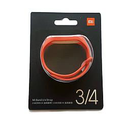 Ремешок для Xiaomi mi band 3/4 оранжевый оригинал