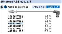 Кабель ABS 3м WABCO EBS-E 4497230300 (24В)