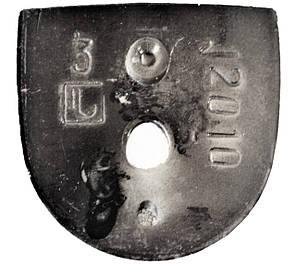 Каблук женский пластиковый 12010 р.3  h-12,8 см., фото 2