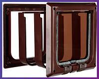 Trixie  TX-38643  дверца для кота 4-Way Cat Flap with Tunnel (15,8х14,7см,2 магнита)