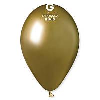 """Воздушные шары Gemar GB120-88  Хром  Золотой 13"""" (32 СМ), 50 шт"""