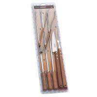 Кух.прибор TRAMONTINA Barbecue 6пр (шампур-3шт,нож 178мм,вил,щип) инд.бл (26499/026)