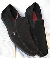 Style! Tommy Hilfiger! Мужские черные замшевые туфли, фото 1