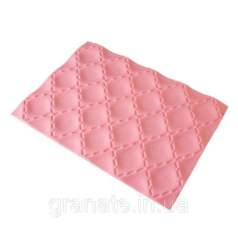 Силиконовый коврик для евродесертов Квадратики 250х185 мм
