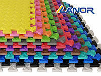 Мягкий пол, пазл 500*500*10 мм Цветной в ассортименте